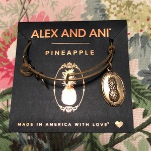 New with card Alex and ani pineapple gold bracelet